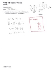 Exam 2 Solutions Spring 2013