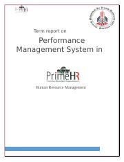 Report HRM (Recriutment and selection -- Training and development)