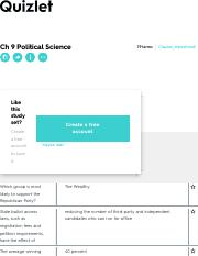 Ch 9 Political Science Flashcards | Quizlet