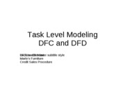 Task Level Modeling Exercise - Marlo's Solution