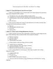Homework Questions for Pain Meds week 12