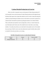 The Effect of Aerobic Exercise on Carbon Dioxide Production