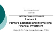 IEU - Lecture 4 - Forward Exchange