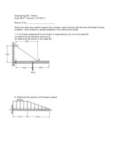 Exam 2 Version 2 Fall 2011 on Statics