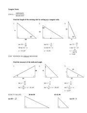 Tangent practice - answers