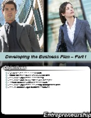 "L3-Developing the Business Plan â€"" Part I-BA-311"