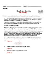 POGIL activity 2 Mendelian Genetics ANSWER KEY