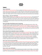 00-MKT-290 Study Guide Fall, 2014 (1)