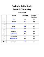 41 50 Tryniti Garred Periodic Table Quiz Pre Ap