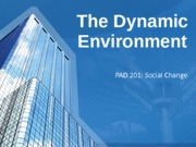 The Dynamic Environment Online Lecture
