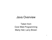 Notes 17 - JavaOverview