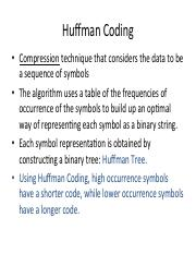 6-Huffman pdf - Huffman Coding Compression technique that