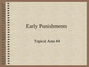 Lecture 37-Early Punishments