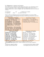 6.1 Subjunctive- Conditions and formation