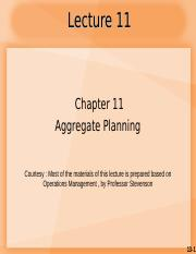 Lecture 11_CH11 Aggregate Planning