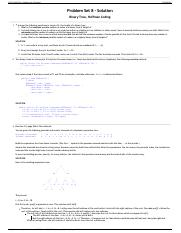 CS 112 Fall 2014 - Problem Set 8 Solution