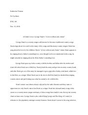 ENG 101 research paper and reflection essay