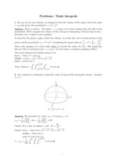Triple Integrals problems study guide
