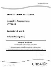 Tutorial Letter 101 (Both) for ICT2612