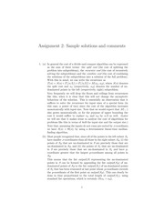 CPSC 500 Fall 2014 Assignment 2 Solutions