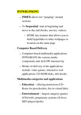 CS 1033A Class Notes HYPERLINKING