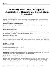 chemistry chapter 3 class 11 notes