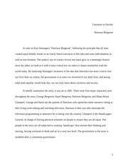 Eng 200- Harrison Bergeron applied to society Paper