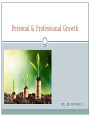 Personal & Professional Growth PPT