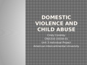 Unit 3 IP Domestic Violence and Child abuse
