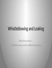 Whistleblowing and Leaking.pptx