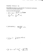 MTH 150 Sample Exam 4 Solutions