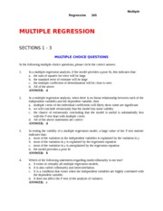Study Guide with Answers - CH 18 - Multiple Regression