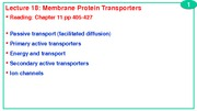 L18+Membrane+protein+transporters+BCH4024+2013