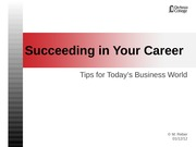 SucceedinginYourCareerPPT830