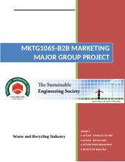 MKTG 1065 BUSINESS-TO-BUSINESS