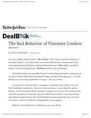 The Bad Behavior of Visionary Leaders - The New York Times.pdf