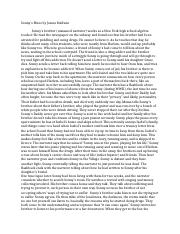 james baldwins story sonnys blues Response paper 1 - sonny's blues  the theme of the story sonny's blues can best be placed best in a single quote provided by author, james baldwin:.