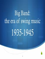 Big Band powerpoint
