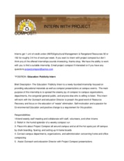 INTERN WITH PROJECT COMPOST
