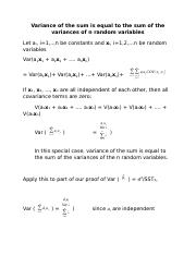 Lecture 2 - Variance of the sum.docx