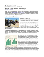 Harley+Goes+Lean+to+Build+Hogs-WSJ+article