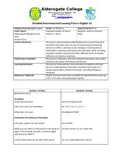 Detailed Reconstructed Learning Plan in English 10.docx