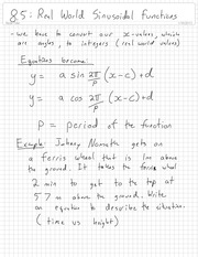 Sinsoidal Functions Notes