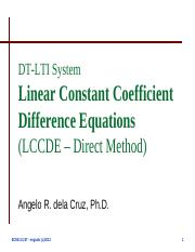 Lecture 3-2 - DT-LTI System Linear Constant Coefficient Difference Equations.pdf