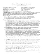 Bio 94 Syllabus Fall 2011 Section 66145