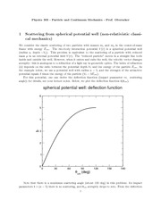Physics 305_Lecture Notes on Scattering from Spherical Potential Well