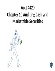 Acct 4420 Chapter 10 10th edition