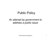 Lecture 06 Public Policy & Lobbying
