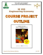 IE255 Course Project Outlines Booklet