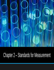 Chapter 2 - Standards of Measurment